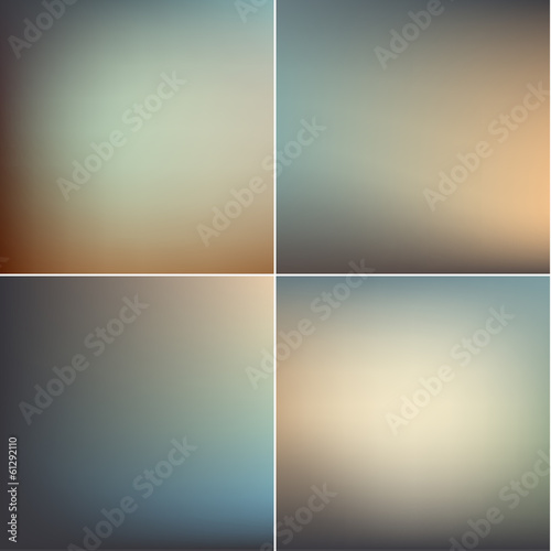 Smooth defocused blur backgrounds set