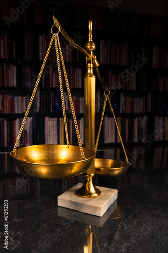 Justice Scale with Law books