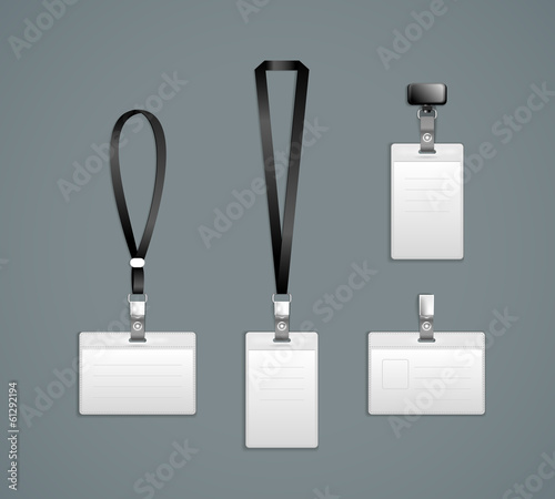 Lanyard, retractor end badge templates