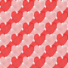 Design seamless doodle heart pattern. Valentine's Day colorful s