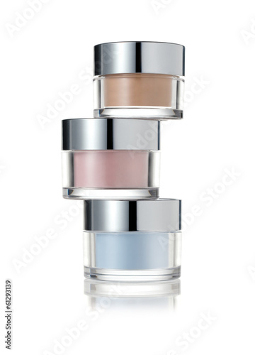 Stack of cosmetic jars