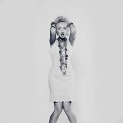 Pretty girl with bijouterie. Fashion photo