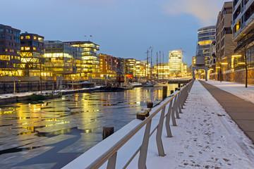 Winter night in the Hafencity