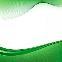 Green Curves Background
