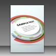 Folder template with round colorful design element
