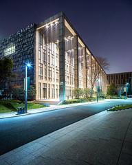 The night scene of modern office building