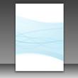 New folder template - blue lines frame