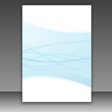 New folder template - blue lines frame