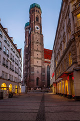 Church of Our Lady (Frauenkirche) in Munich at Dawn, Bavaria, Ge