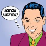 Fototapety smiling businessman, pop art style illustration