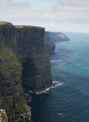 Cliffs of Ireland in vertical position