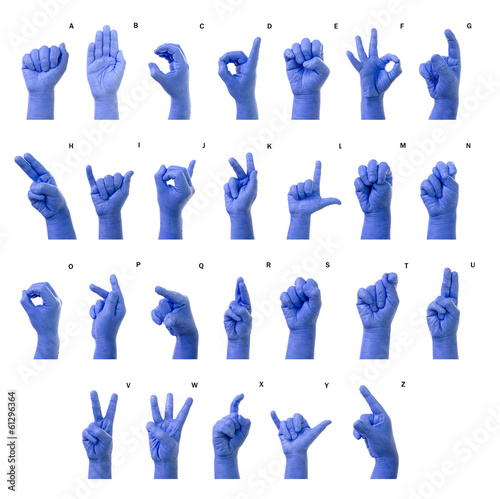 Little Finger Spelling the Alphabet in American Sign Language (A