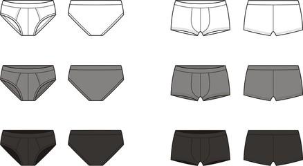 Vector illustration of men's underpants