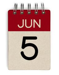 5 june calendar