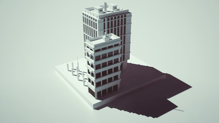 Animating 3D urban project