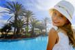 Summer vacation - Portrait of lovely girl in beach resort
