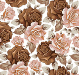 Flowers.  Roses. Beautiful background with a flower ornament.