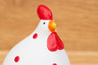 Funny hen ceramic white and red