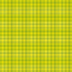 Green and yellow gingham pattern background.