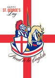 Happy St George Day Proud to Be English Retro Poster