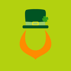 Abstract Leprechaun Saint Patrick´s Day Light Green