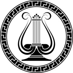 stencil of lyre