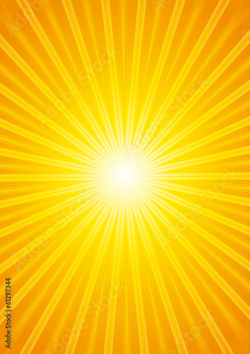 Beautiful hot sunburst background.