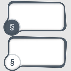 set of two vector text frames and paragraph