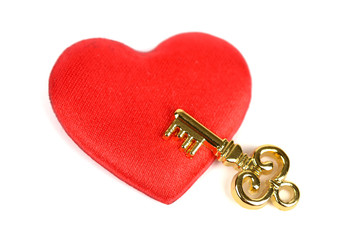 key and heart, Valentine Concept