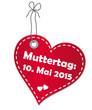 Muttertag 2015 Anhänger - Vektor