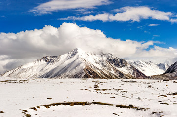 snow mountai, in Tibet of China