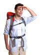 Backpacker hält Ausschau