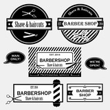Barbershop vintage signs collection poster
