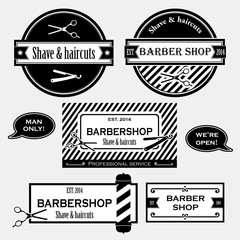 Barbershop vintage signs collection