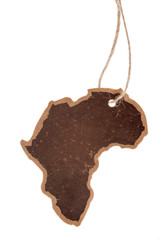 Vintage label, africa continent silhouette, isolated