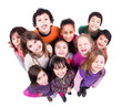 Group of children making faces