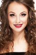 Beautiful woman smiling. Professional make up