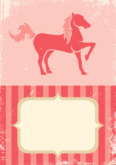 Poster with horse