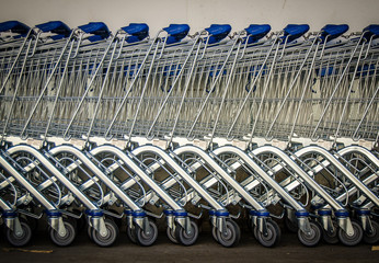 Row Of Shopping Trolleys