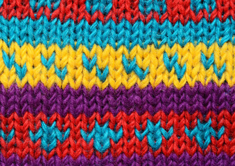 Knitted background