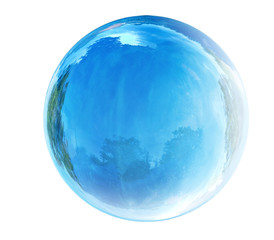 blue glass bubble