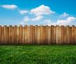 Leinwanddruck Bild - garden fence