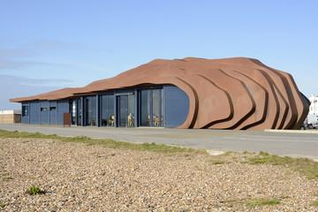 Cafe on beach at Littlehampton. England