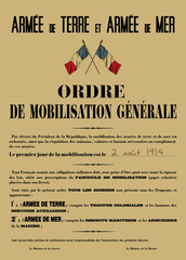 Affiche Mobilisation 1914