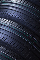 Brand new car tires texture