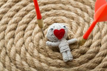 Valentine thread doll