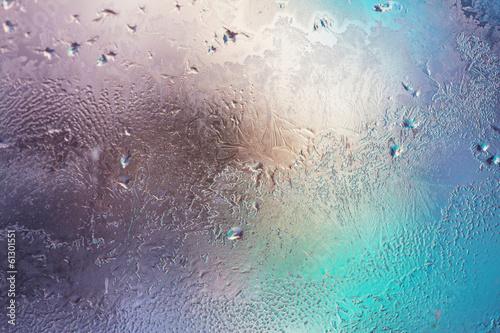 canvas print picture Frozen window
