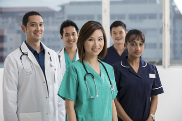 Team of Multi-ethnic medical staff