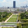 Paris cityscape with Champ de Mars