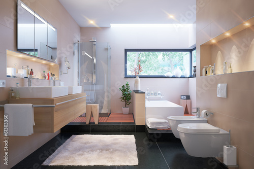 Badezimmer in Villa - luxury bathroom and spa area